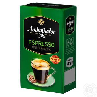Скидка 29% ▷ Кофе молотый Ambassador Espresso 225г