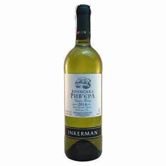 Вино Кримська Рив'єра червоне або біле напівсолодке  Inkerman 0,75 л