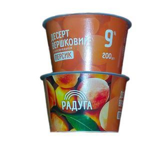 Десерт вершковий фруктовий 9% Радуга 200г