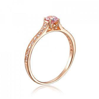 Скидка 51% ▷ Золотое кольцо с фианитом Swarovski. Артикул 12181/01/0/1385
