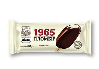 Морозиво Пломбір 1965 ескімо в шоколадній глазурі Лімо 80 г