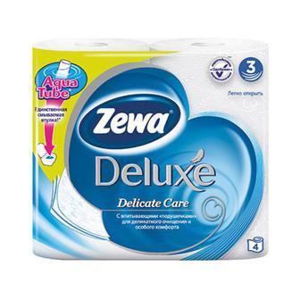 Папір туалетний, папір туалетний вологий, серветки косметичні Zewa deluxe