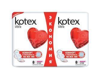 Прокладки гігієнічні Kotex Duo Ultra Soft Super, 16 шт./уп