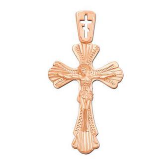 Золотой крестик с алмазной гранью. Артикул 30961/1гр н