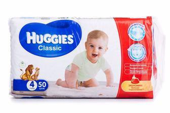 Подгузники Huggies Classic р4 7-18 кг 50 шт