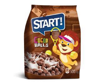 Сніданки сухі зернові Start кульки з какао, 500г