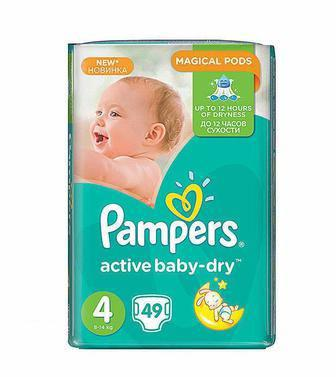 Подгузники Pampers active baby-dry 3,4,5