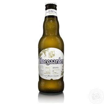 Пиво світле Біле Hoegaarden, 0,33 л
