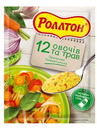 ПРИПРАВА куряча, Грибна, 12 овочів та трав, 80 г РОЛЛТОН