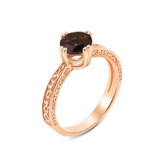 Скидка 50% ▷ Золотое кольцо с раухтопазом. Артикул 530098/раух