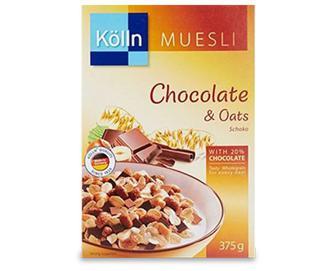 Кранчі з горіхами і шоколадом, Kolln, 375 г
