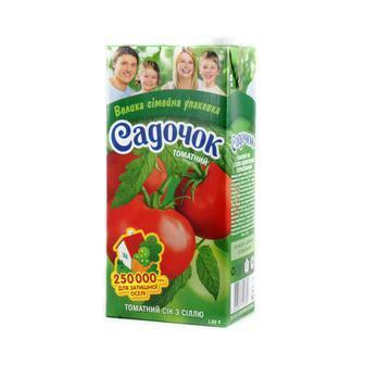 Сік/Нектар томатний/мультифруктовий Садочок 1,93л