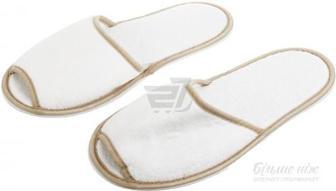 Капці для сауни махрові білі 27 см