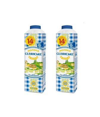 Молоко питне пастеризоване 2,5% Селянське 950г