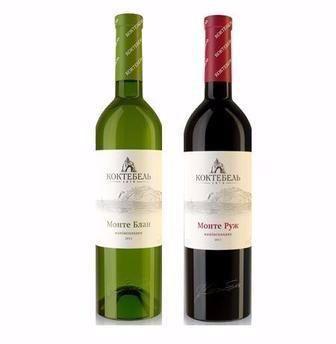 Вино Монте Блан біле, Монте Руж коктебель