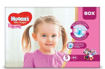 Підгузки Huggies Box Ultra Comfort для дівчаток 5 (12-22 кг) 84 шт./уп