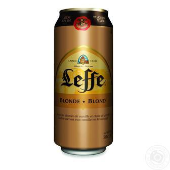 Пиво світле Leffe Blonde ж/б, 0.5 л