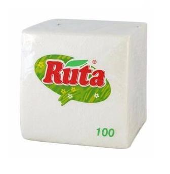 Серветки паперові білі Ruta 100 шт