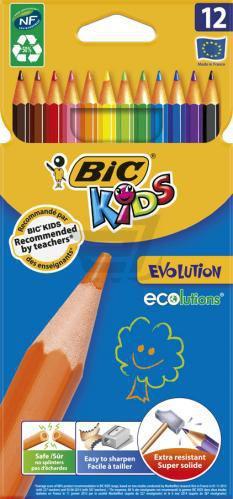 Олівці кольорові 12 шт. Evolution 829029 BIC