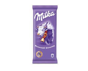 Шоколад молочний без додатків, Milka, 90 г