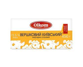 Маргарин вершковий Olkom «Київський» 72,5% жиру, 450г