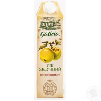 СІК Яблучний, Яблучно-чорносмородиновий, Яблучно-грушевий, 1 л GALICIA