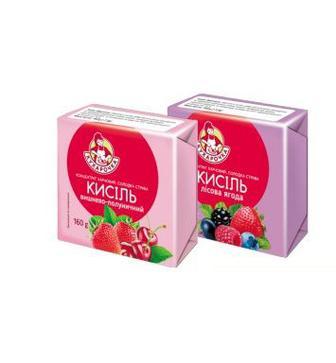 КИСІЛЬ Лісова ягода, вишнево-полуничний, 160 г КУХАРОЧКА