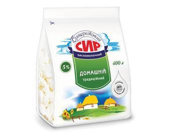 Сир кисломолочний «Білоцерківський» домашній традиційний, 5% жиру, 400г