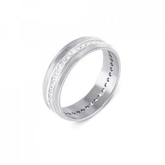 Обручальное кольцо с бриллиантами. Артикул 1090/1.25б
