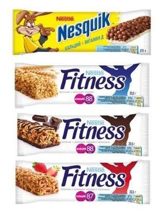 Батончики Fitness , Nesquik, 25 г