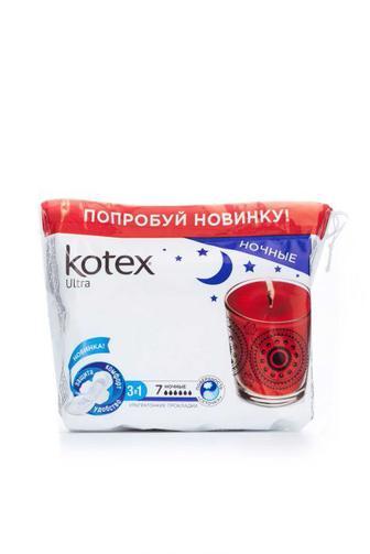 Прокладки для критических дней KOTEX Ультра Найт 7шт