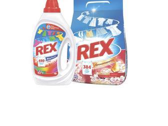Рідкий засіб для прання, 1000, 1320мл, Пральний порошок Rex, 2,4кг