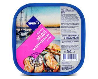 Мідії «Премія»® мариновані в олії, 200г
