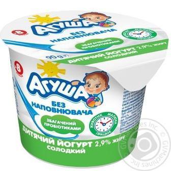 Йогурт дитячий Агуша Солодкий 2.9% 90г
