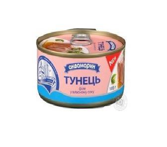 Тунец для салатов АКВА 185гр