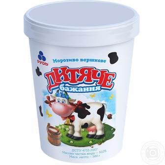 Морозиво Рудь Дитяче бажання 500г