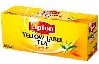 Чай Lipton Yellow Label 25 пак