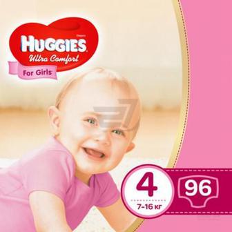 Підгузки Huggies Ultra Comfort 4 7-16 кг 96 шт. для дівчинки