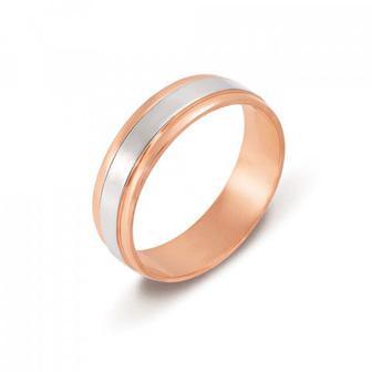 Обручальное кольцо комбинированное. Артикул 1065/1