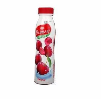 Йогурт питний Дольче 2,5% полуниця, персик, вишня, чорниця Лактель 290г