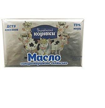 Масло сладкосливочное экстра 73% Українські Корівки, 180г