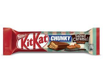 Батончик Kit Kat з молочного шоколаду з начинкою зі смаком солоної карамелі та ірису, 42г