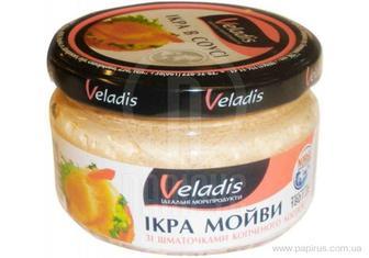 Ікра мойви у соусі зі шматочками лосося Veladis 180г