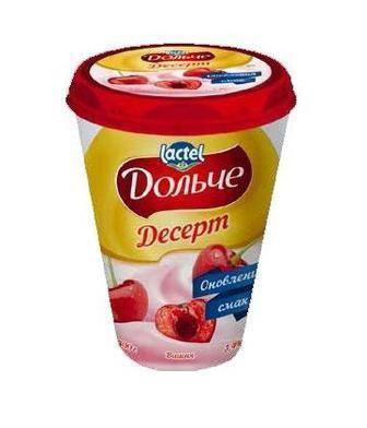Десерт сирковий Дольче вишня 3,4% 400г