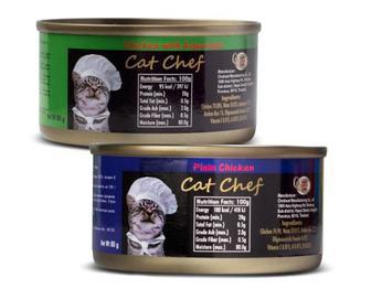Корм для котів Cat Chef м'ясо курки, м'ясо курки зі спаржею, 80 г