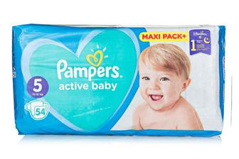 Подгузники PAMPERS Active Baby-Dry р5 11-18кг 54шт