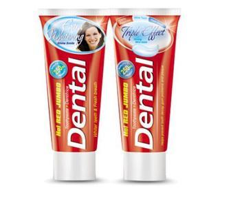 Скидка 30% ▷ Паста зубная Dental Hot Red Jumbo тройной эффект 250г