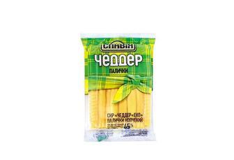 Сир копчений Чеддер Еко палички, 45% Славія 150 г