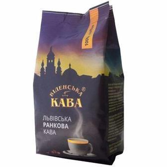 Кава Львівська ранкова в зернах Віденська кава 250г