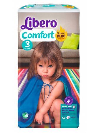 Підгузки Libero Comfort Розмір 3 (5-9 КГ) 62 шт